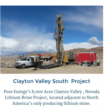 Pure Energy Minerals, 1 of just a few Lithium Winners