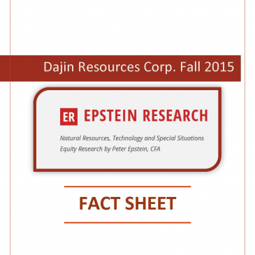 Dajin Resources' Fall 2015 Fact Sheet