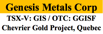 Genesis Metals Corp. Starts 10,000 m Drill Program
