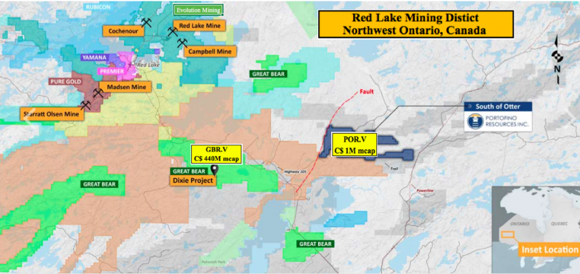 Portofino Resources starts exploration at Red Lake gold / base metals prospect