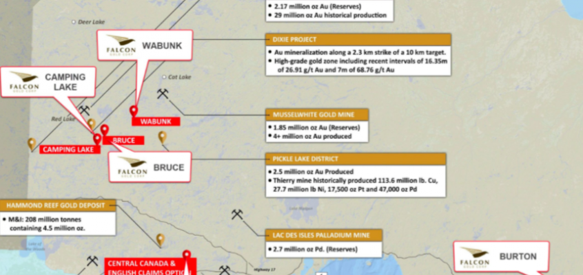 Falcon Gold (FG.V) expands Red Lake holdings, gears up to drill high-grade Central Canada Au Project