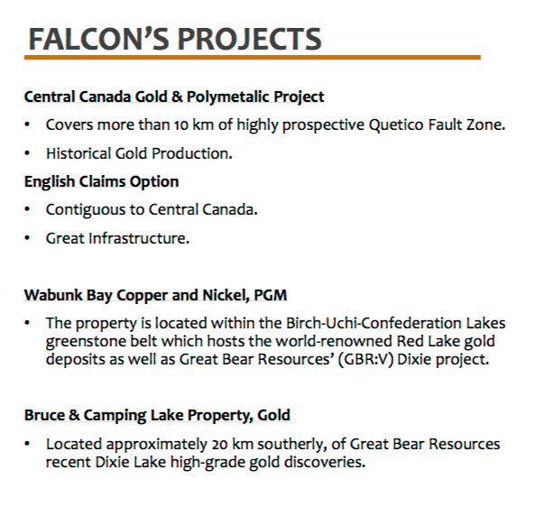 Falcon Gold (FG.V), up big on new properties, drills turning, and the novel tactic of 'doing work'