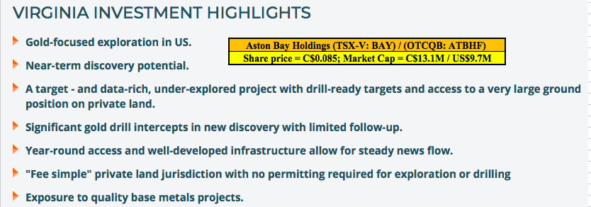 Aston Bay Holdings de-risks with 10 new assays, more to follow in August