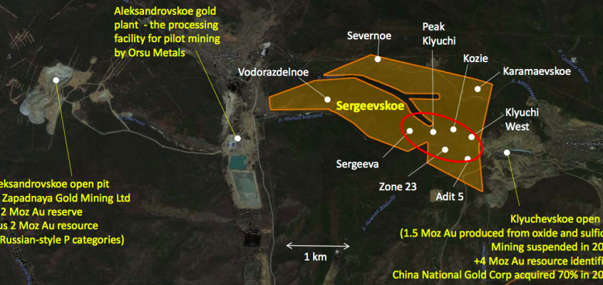 ORSU METALS; unknown junior miner with 1.42M Inferred ounces GOLD & tiny US$12M market cap
