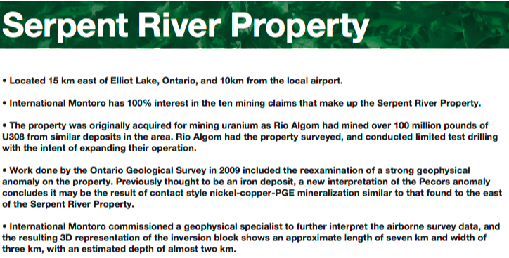 Intl. Montoro Resources; 4-5 exciting properties, C$4.5M enterprise value, too cheap to ignore?