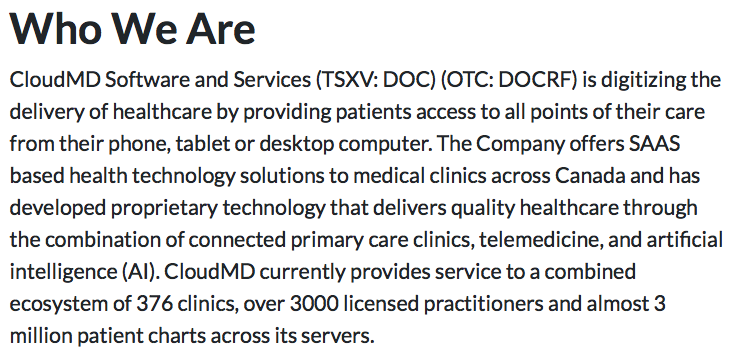 CloudMD: The Best Bet in Telehealth?
