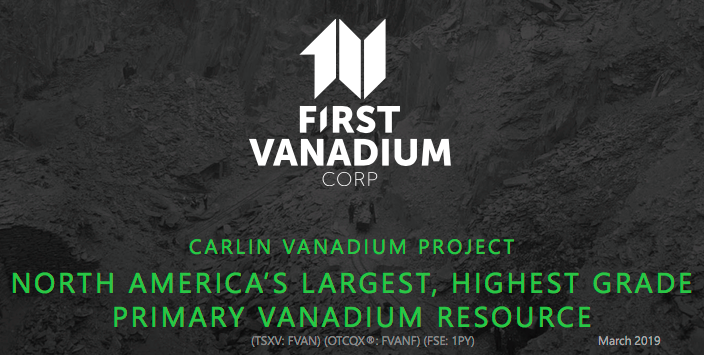 First Vanadium Corp  Delivers Strong Maiden Resource