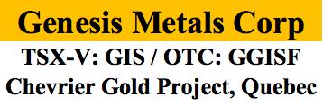 Genesis Metals Corp. Starts 10,000 m Drill Program