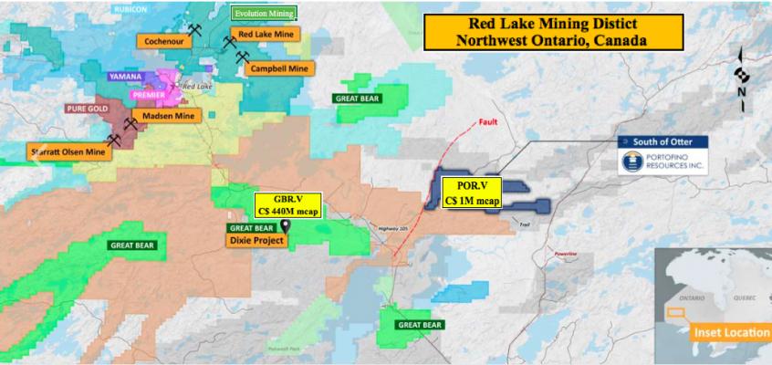 Portofino Resources starts exploration at Red Lake gold / base metals prospect